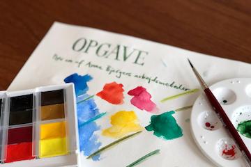 Akvarelworkshop i det kreative værksted på Gl. Holtegaard
